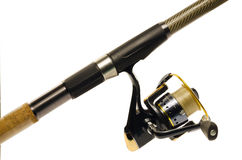 Fishing rod and reel Stock Photos
