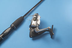 Fishing Rod and Reel. Sports equipment used for angling royalty free stock image