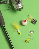 Fishing Rod and Reel. Sports equipment used for angling stock photo
