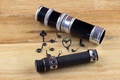 Fishing Rod Rings and Reel Fittings Royalty Free Stock Photo