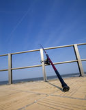 Fishing rod at the seaside Royalty Free Stock Image
