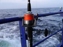 Fishing-rod with spinning-wheel Stock Image