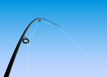 Fishing rod vector Royalty Free Stock Photography