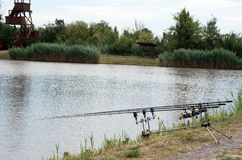 The fishing rod Stock Photography