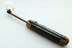 Fishing rod for winter fishing. On white background Stock Photos