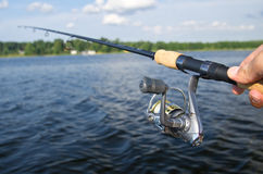 Fishing with rode Stock Photo