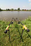 Fishing rods Stock Photography