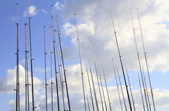 Fishing rods Royalty Free Stock Images