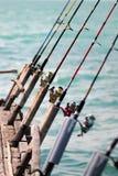 Fishing Rods. Image capture on fishing village royalty free stock photography