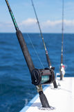 Fishing rods and reels Stock Photo