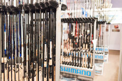 Fishing rods for sale Stock Image