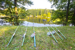 Fishing rods Royalty Free Stock Image
