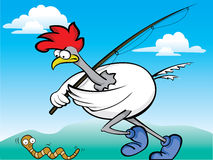 Fishing Rooster Royalty Free Stock Photography