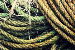 Fishing rope textures Stock Image