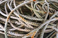 Fishing ropes royalty free stock photo