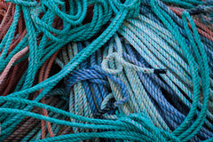 Fishing Ropes Stock Photo