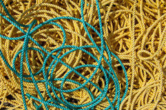 Fishing ropes Royalty Free Stock Photos
