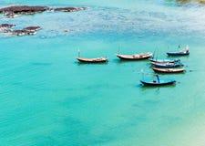 Fishing rowboat group Stock Photo