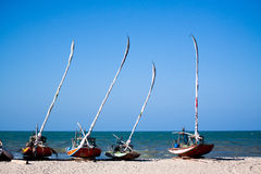 Fishing sailboats in Brazil Stock Images