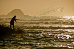 Fishing for Sardines Royalty Free Stock Photography