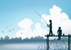 Fishing scene Royalty Free Stock Image