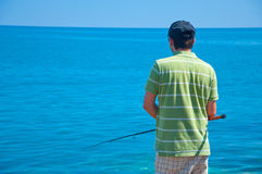 Fishing in the sea Stock Images