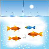 Fishing in sea Royalty Free Stock Photography