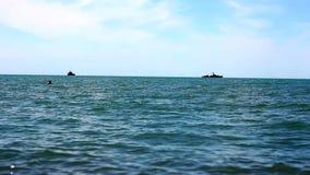 Fishing at the Sea. Fishing at the Black Sea stock footage