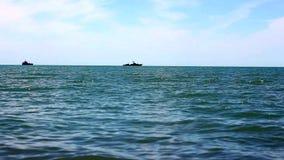 Fishing at the Sea. Fishing at the Black Sea stock video