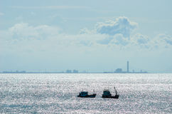 Fishing sea boat Stock Images