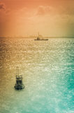 Fishing sea boat  vintage Royalty Free Stock Images