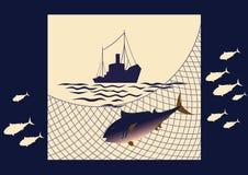 Fishing at sea Royalty Free Stock Images