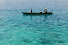 Fishing in the sea. Royalty Free Stock Photos