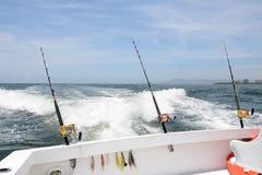 Fishing at sea stock image