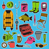 Fishing seamless pattern Royalty Free Stock Images