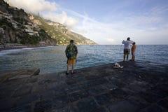 Fishing Seaside Stock Images