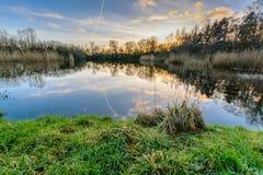 Fishing See Lizenzfreie Stockfotografie