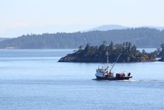 Fishing Seiner, Gulf Islands, British Columbia, Ca Stock Image
