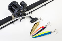 Fishing set for salmon Stock Image