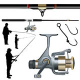 Fishing set vector Royalty Free Stock Photo