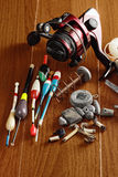 Fishing set Stock Photos