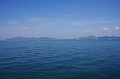 Fishing in Seto Inland Sea Royalty Free Stock Image