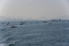 Fishing in Seto Inland Sea Stock Images