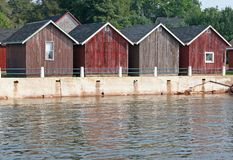 Fishing Shacks 2 Stock Photography