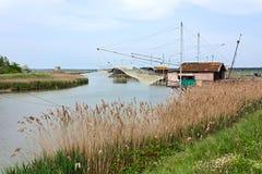 Fishing shacks Stock Photos