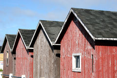 Fishing Shacks. On the wharf in Victoria-by-the-Sea, Prince Edward Island stock photography