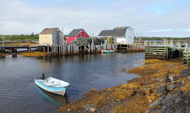 Fishing village,Nova Scotia Stock Image