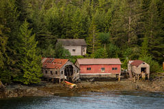 Fishing Shacks Near Ketchikan Alaska Stock Photos