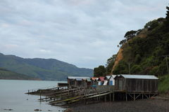 Fishing shacks Royalty Free Stock Photo