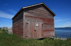 Fishing Shed in Cow Head Stock Photo
